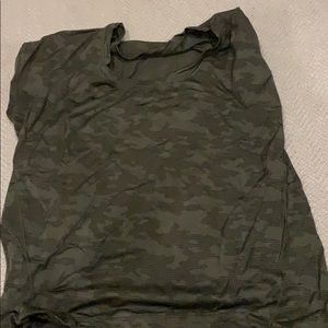 camo lululemon lightweight shirt